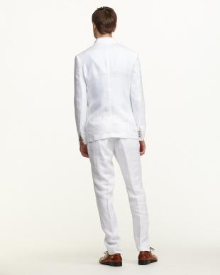 ホワイト  リネン セットアップ・スーツ見る