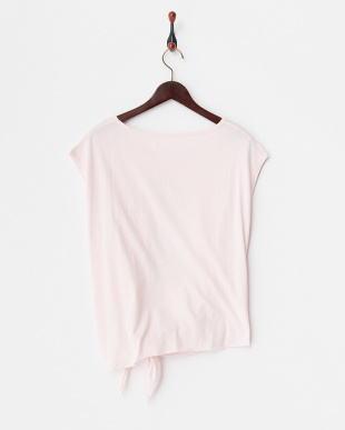 ピンク  ラクチンきれい水着 ビーチウェア(水に入れるカットソー パインプリント)見る