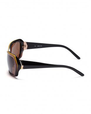 ブラック/ブラウン  切り替えデザインサングラス見る