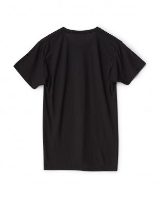 ブラック  吸水速乾 UVカット 太陽熱をシャットアウト クルーネックTシャツ見る
