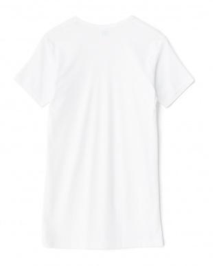 ホワイト 吸水速乾 ワキ汗ジミ防止 クルーネック半袖Tシャツ見る