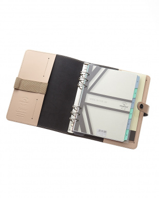 ベージュ  オリジナル システム手帳 A5サイズ見る