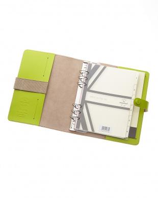ライムグリーン  オリジナル システム手帳 A5サイズ見る