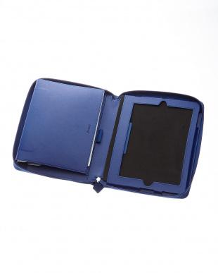 ブルー  ペニーブリッジ システム手帳+iPadケース A5/iPad2-4見る