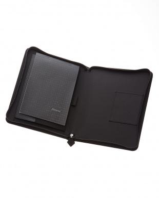 ブラック  ペニーブリッジジップ タブレットケース ラージサイズ見る