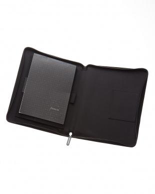 ブラック  マイクロファイバージップ タブレットケース ラージサイズ見る