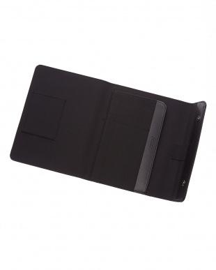 ブラック  サフィアーノラップ タブレットケース スモールサイズ見る