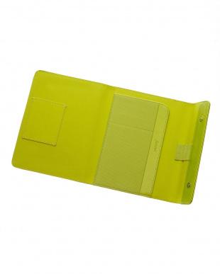 ライムグリーン  サフィアーノラップ タブレットケース スモールサイズ見る