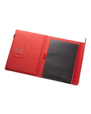 レッド  サフィアーノラップ フォリオ タブレットケース Xラージサイズ見る