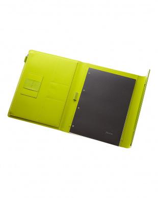 ライムグリーン  サフィアーノラップ フォリオ タブレットケース Xラージサイズ見る