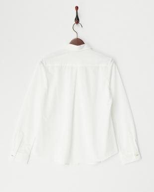 ホワイト  タック入りシャツ見る