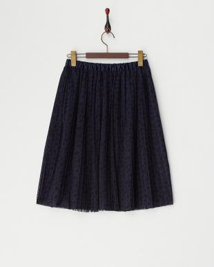 ネイビー  シアーレオパードスカート見る