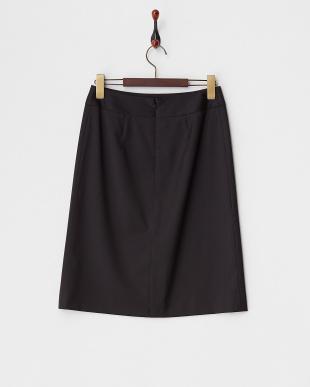 クロ  ウール/ビスコース混 ベーシック スカート見る