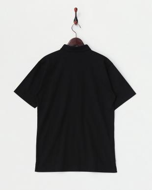 ブラック  コットンポロシャツ見る