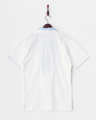 ホワイト  へリンボーンポロシャツ見る