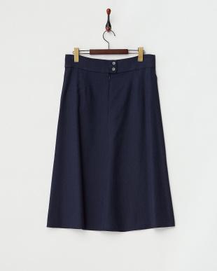 ネイビー  CAPRAIA Skirt・シルク混見る