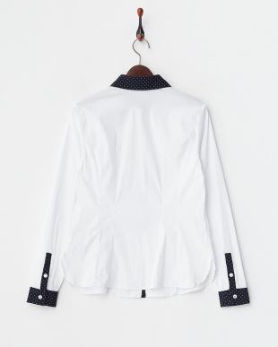 WHITE BENE 衿切り替え ストレッチシャツ見る