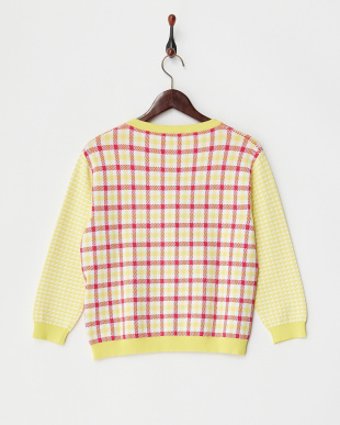 RED YELLOW AM mix plaid カーディガン見る
