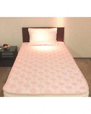 ピンク  さらさらガーゼ 敷きパッド シングル見る