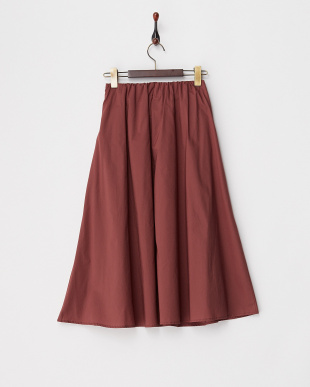 レンガ  ウエストリボン Aラインスカート見る