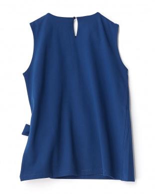 ROYAL BLUE  ウエストリボンノースリーブTシャツ見る