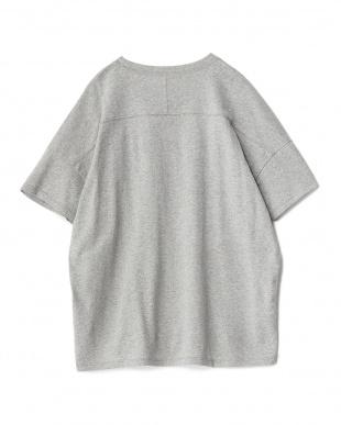 GRAY  クルーネック半袖ルーズTシャツ見る