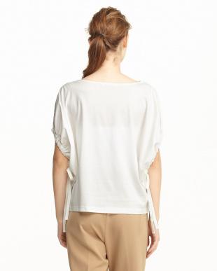 OFF WHITE  シルケット袖ドローストリング半袖Tシャツ見る
