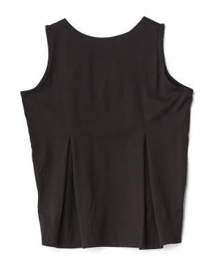BLACK  シルケットフレアノースリーブTシャツ見る