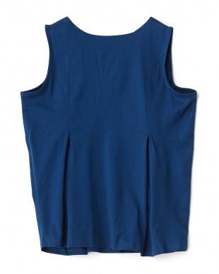ROYAL BLUE  シルケットフレアノースリーブTシャツ見る