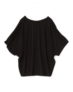 BLACK  ショルダースリット半袖Tシャツ見る