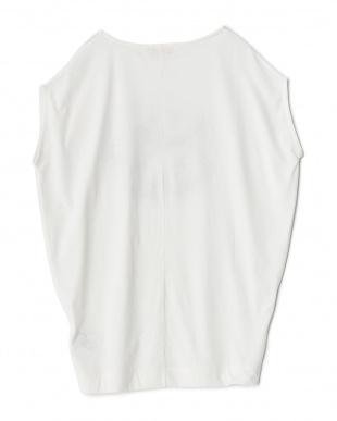 WHITE ミラーサークルノースリーブTシャツ見る