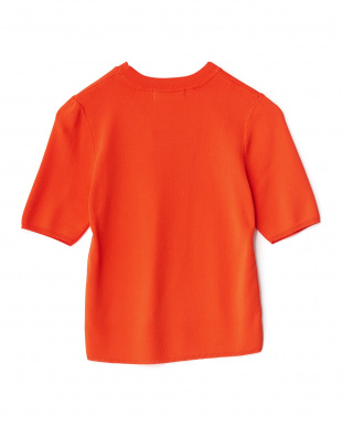 RED クルーネックミニマル半袖セーター見る