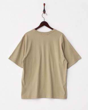 BEIGE  BオーガニックコットンポケTシャツ(半袖)見る