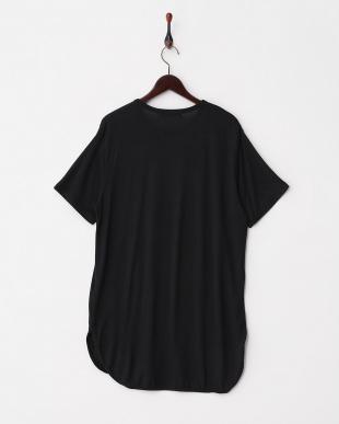 BLACK ストレッチラウンドロングTシャツ(5分袖)見る