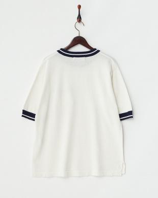 WHITE A ラインリブポケットセーター(半袖)見る
