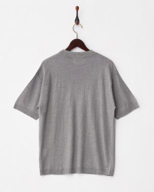 GRAY  B フレンチリネンニットTシャツ(半袖)見る