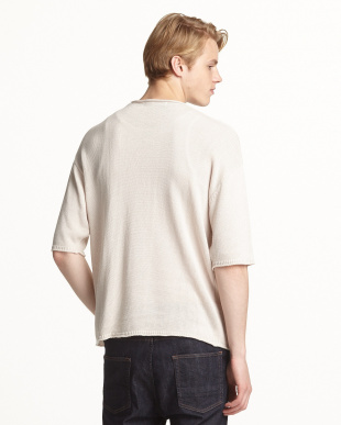 BEIGE  A リネンレーヨンボックスセーター(5分袖)見る