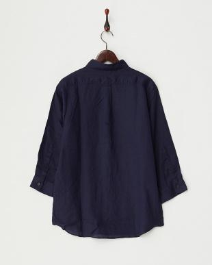 NAVY フレンチリネンシャツ(7分袖)見る
