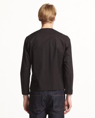 BLACK  ノーカラーZIPシャツ見る