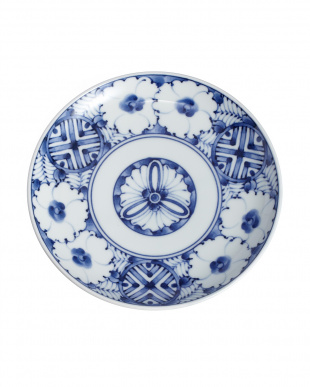 青黛花紋 旨味碗皿見る