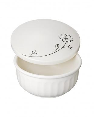 電子レンジ専用の耐熱陶器一輪花 おひつ(1.5合)見る