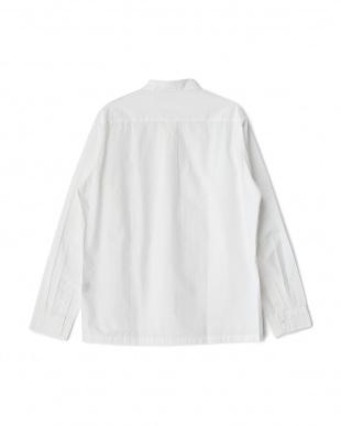 White  D'sh タイプライターレギュラーカラーシャツ見る