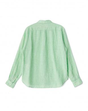 Green  Linen LONG-SLEEVE Shirts DOORS見る
