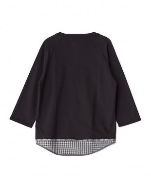 Black  Layered 8/S Big T-Shirts DOORS見る