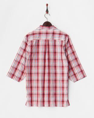 RED  チェックスキッパー七分袖シャツ2 WH見る
