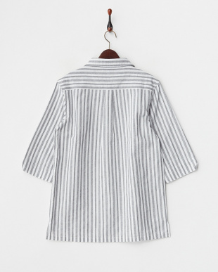 GRY  ストライプP/Oシャツ WH見る