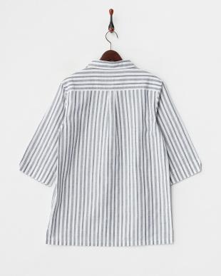 NVY  ストライプP/Oシャツ WH見る