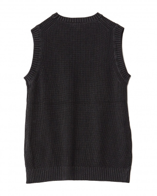 BLACK  Garment Dyed Knit Vest WH見る
