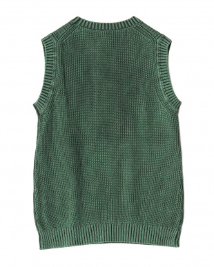 GREEN  Garment Dyed Knit Vest WH見る