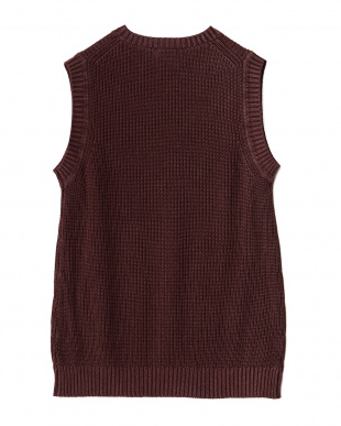 WINE  Garment Dyed Knit Vest WH見る